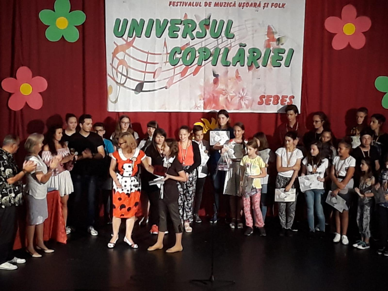 Câștigătorii Festivalului de muzică ușoară și folk ~Universul copilăriei~ Sebeș, 22-24 iunie