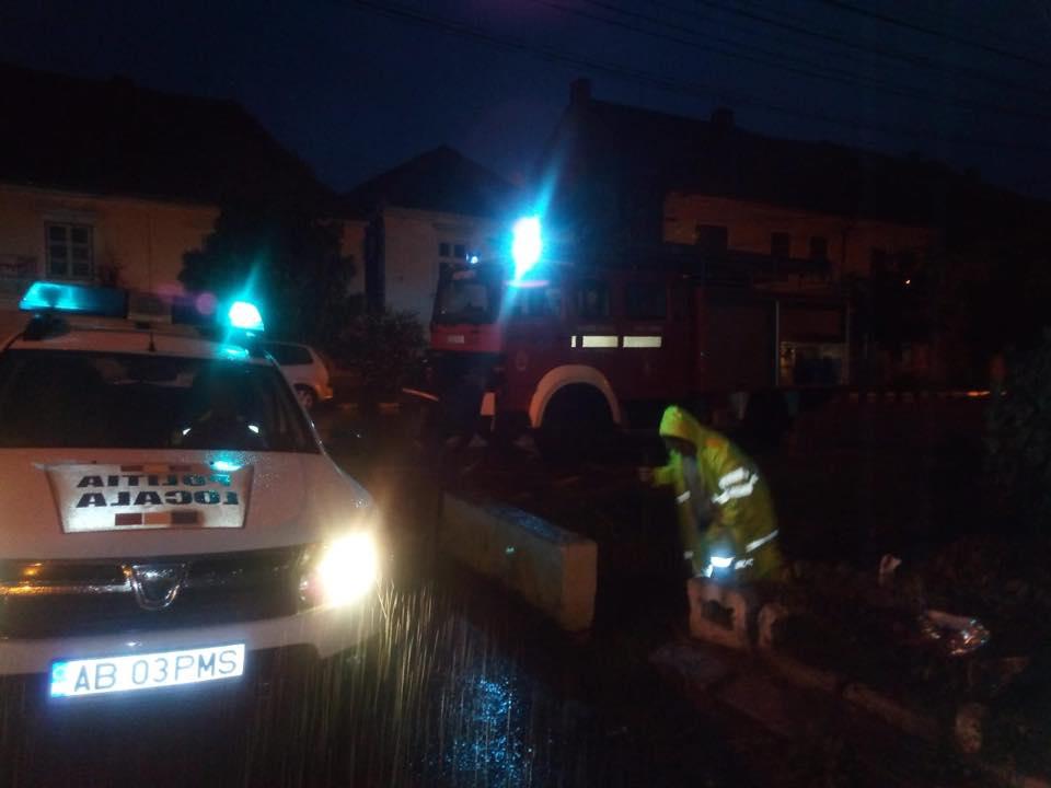 Sebeș: intervenții ale autorităților în urma ploilor însemnate cantitativ