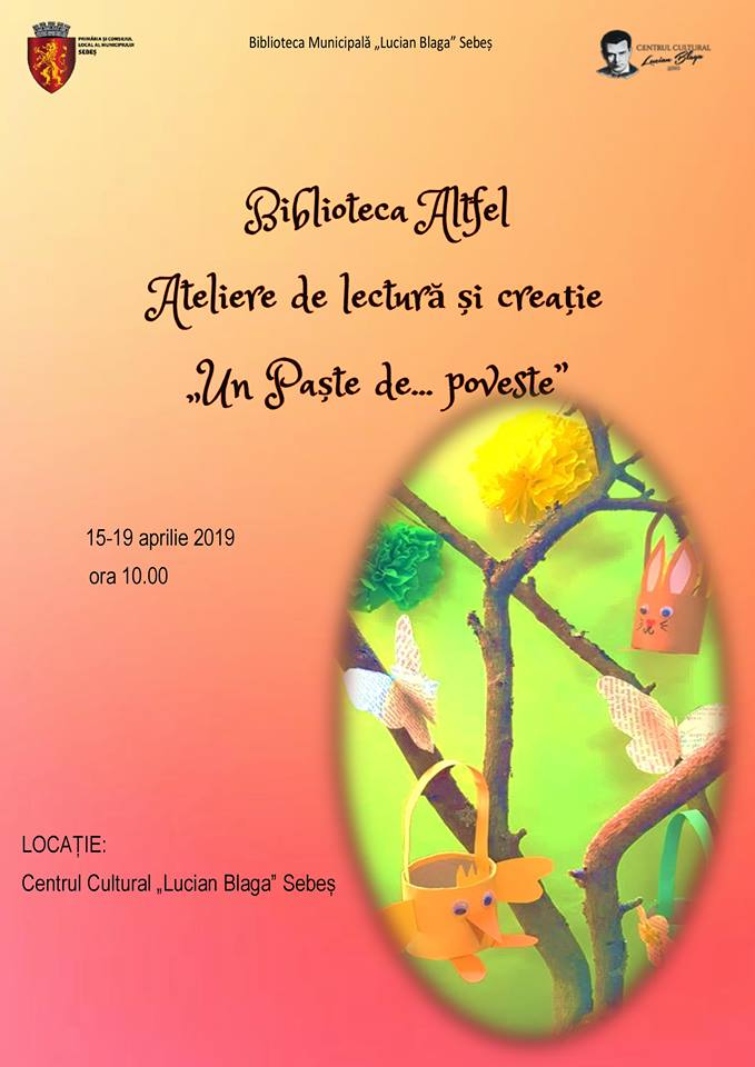 """ATELIERE DE LECTURĂ ȘI CREAȚIE LA SEBEȘ, ÎN CADRUL PROGRAMULUI """"BIBLIOTECA ALTFEL"""""""