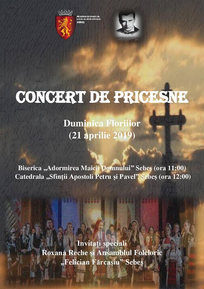 Sebes / Duminica Floriilor, concerte de pricesne