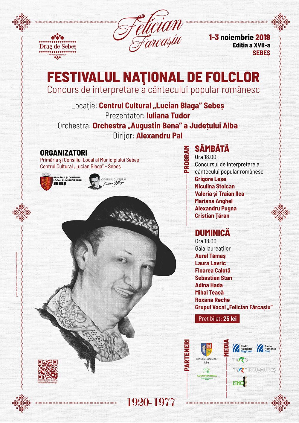 """Festivalul național de folclor """"Felician Fărcașiu"""""""