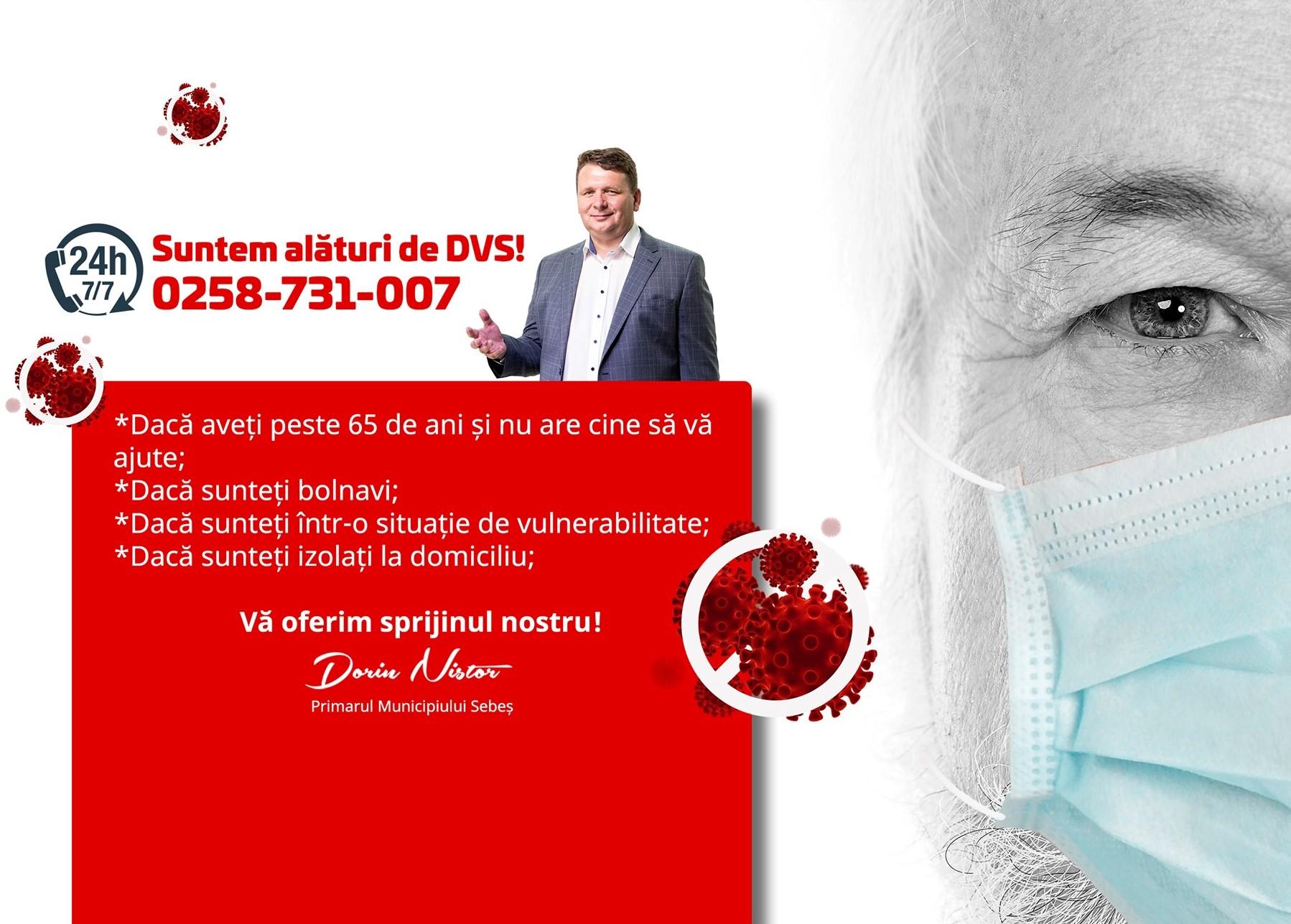 Scurt bilanț al campaniilor de sprijin social inițiate de Primarul Municipiului Sebeș