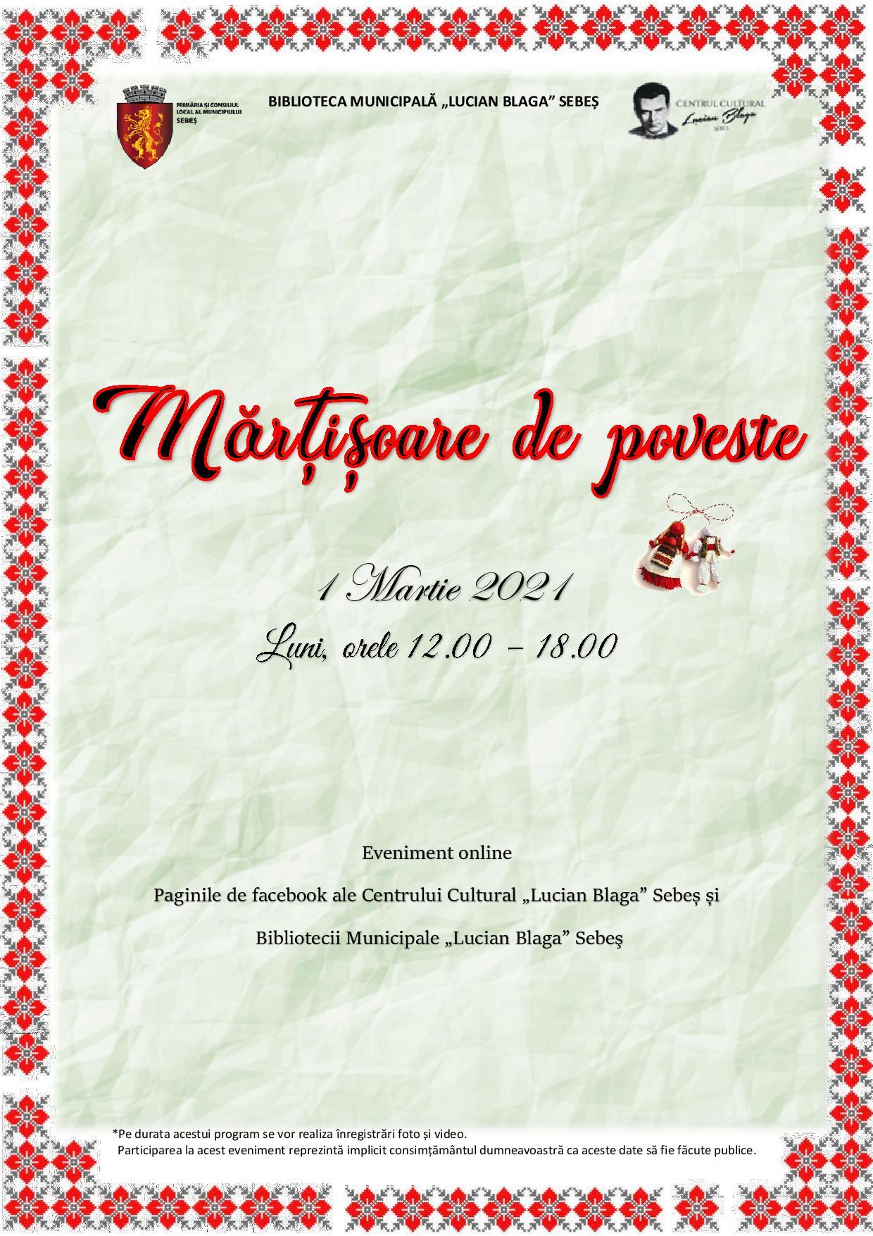 La Sebeș, păstrăm tradiția mărțișoarelor de poveste!
