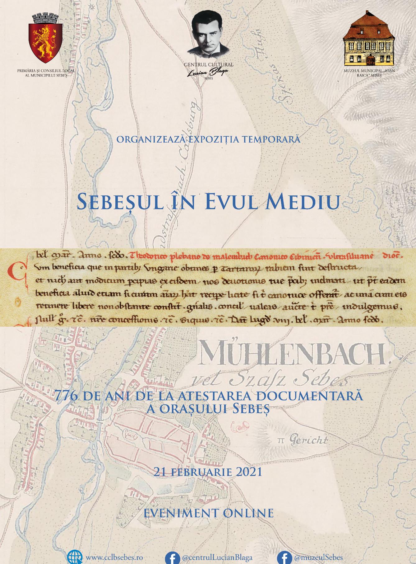 776 de ani de la atestarea documentară a oraşului Sebeş