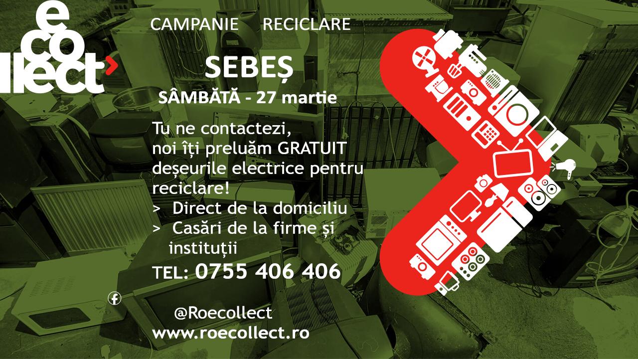 Campanie de informare și colectare deșeuri de echipamente electrice și electronice 27.03.2021